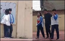 Cặp đôi học sinh rủ nhau trốn tiết ra sân trường hẹn hò và cái kết đắng nghét khi bị thầy giáo túm cổ