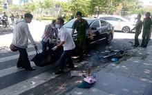 Xe đạp va chạm với ôtô, cụ ông ngã đập đầu xuống vỉa hè tử vong