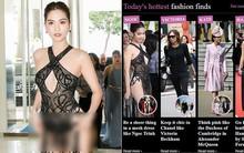 Tâm điểm bàn tán trên báo Anh tuần qua là về bộ váy phản cảm của Ngọc Trinh