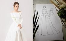 Đàm Thu Trang nhử fan với hình ảnh cô dâu xinh đẹp, NTK tiết lộ giá trị của thiết kế váy khiến ai cũng bất ngờ