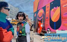 """Nhìn khu phố nghệ thuật mà Châu Bùi và Decao vừa check-in mà chỉ biết """"mắt tròn mắt dẹt"""" vì đẹp không thua gì phim trường Hollywood"""