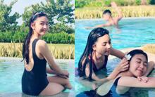 """""""Công chúa"""" 14 tuổi nhà Quyền Linh thả dáng với bikini, ai cũng tấm tắc khen dáng vóc như Hoa hậu tương lai"""
