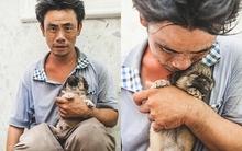Đằng sau bức ảnh chú chó trong giỏ đánh giày: Người đàn ông bị câm bầu bạn với chú chó mù