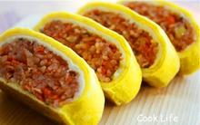 Cơm trộn Hàn Quốc phiên bản cuộn trứng đẹp mà ngon
