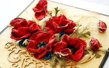 Tỉ mẩn làm hoa poppy trang trí thiệp xinh