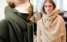 Lấy áo len làm... khăn: Xu hướng phá cách mới nhất của mùa đông 2014