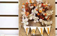 Tập tành làm tranh hoa khô treo tường độc đáo
