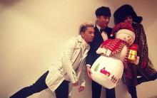 Big Bang chụp ảnh nhí nhố cùng người tuyết đón Giáng sinh