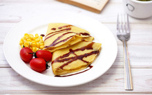 Ngọt mềm bánh pancake mang vị ngô