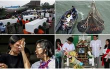 Những hình ảnh đau lòng trong nhiều ngày tìm kiếm QZ8501 vừa qua