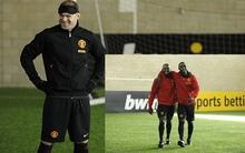 Rooney bịt mắt đấu với cặp đôi huyền thoại của MU