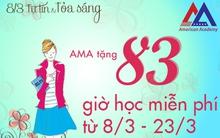 Cơ hội nhận 83h học tiếng Anh miễn phí từ AMA