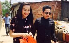 Hoa hậu Diễm Hương đội nắng, hạnh phúc cùng chồng làm từ thiện