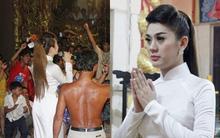 Lâm Chi Khanh sang Campuchia hát từ thiện tại chùa