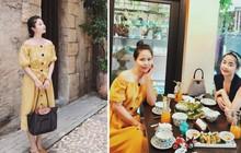 Cùng diện váy gợi cảm, mẹ Nam Thương được khen mặc xinh chẳng kém con gái