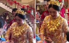Cô dâu trĩu cổ cả yến vàng trong ngày cưới gây xôn xao ở Trung Quốc