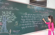 Khi giáo viên tiểu học đi thi viết chữ đẹp: Không máy in hay font chữ xịn xò nào có thể sánh ngang với bàn tay cô giáo!