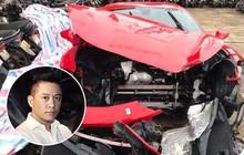 Hé lộ lý do siêu xe Ferrari 16 tỷ đồng của Tuấn Hưng gặp tai nạn nát đầu