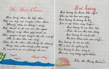 Thầy nào trò nấy, học sinh của 18 cô giáo viết đẹp gây sốt hôm qua cũng có nét chữ không máy in nào sánh bằng