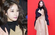 Jiyeon uốn tóc xoăn già như bà cô, gầy đến độ như đang bơi trong quần áo khi xuất hiện tại Seoul Fashion Week