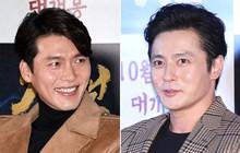 Cùng đẹp trai phong độ, Hyun Bin và Jang Dong Gun hôm qua còn có chung cả làn da bóng nhẫy như vừa skincare 10 bước