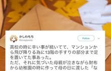 Người mẹ Nhật Bản ngăn con trai nhảy lầu tự tử chỉ bằng một mẩu giấy nhỏ bà đã giữ gìn nhiều năm