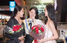 Thuỳ Tiên xúc động đến bật khóc khi Hoa hậu Tiểu Vy, Á hậu Thúy An tiễn lên đường đi Nhật thi Miss International 2018