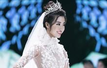 Đỗ Mỹ Linh, Lam Cúc và Hoa hậu Trái đất Angelina Ong tỏa sáng với váy cưới của Jardin de Calla trong vai trò vedette