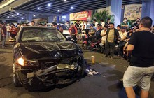 Ảnh: Hiện trường vụ nữ tài xế điều khiển xe BMW gây tai nạn kinh hoàng ở ngã tư Hàng Xanh
