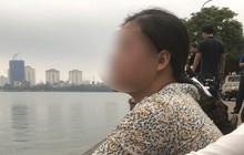Bố mất tích ở Hồ Tây, con gái khóc lóc chờ lực lượng chức năng tìm kiếm thi thể