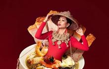 Dưới tài nghệ Photoshop vi diệu của cư dân mạng, hoa hậu H'Hen Niê khoác cả thế giới ẩm thực trù phú lên người