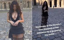 """Bị chặn cửa tại bảo tàng Louvre vì hở hang gần trọn vòng 1, mẫu Úc cãi cố: """"Làm gì có quy định ăn mặc đâu!"""""""
