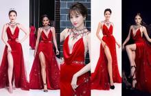 """Như một thói quen, Hari Won cứ 10 lần mặc váy đỏ là 9 lần """"đụng hàng"""""""