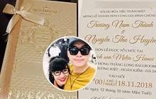 Hé lộ thiệp cưới của Trương Nam Thành với bạn gái doanh nhân lớn tuổi