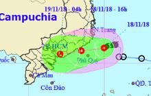 Bão số 8 suy yếu thành áp thấp nhiệt đới giật cấp 9, đổ bộ vào Bình Thuận đến Bà Rịa - Vũng Tàu