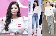 """Cùng diện 1 chiếc áo: Jennie (Black Pink) """"cao tay"""" hơn hẳn Châu Tấn, nhưng đẹp hơn thì chưa chắc"""