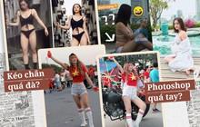 Hot girl lộ vóc dáng thật trong ảnh được tag: Người xồ xề ngấn mỡ, người chân ngắn không hề nuột nà