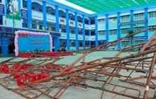 Sập giàn giáo trong lúc làm lễ 20/11 tại trường tiểu học ở Sài Gòn, hàng chục học sinh nhập viện cấp cứu