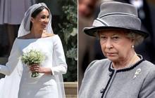 """Nữ hoàng Elizabeth không ít lần phật ý vì style của Meghan Markle và còn có phản ứng """"khó đỡ"""" với chiếc váy cưới của cô"""
