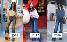 Mặc jeans thôi mà chân dài cả tấc, chẳng trách Hà Tăng có mỗi chiếc quần cả 3 năm vẫn diện đi diện lại
