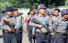 Cảnh sát vũ trang tràn ngập SVĐ tổ chức trận Myanmar - Việt Nam, sẵn sàng cho CĐV quá khích lên xe thùng