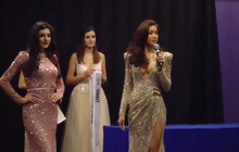 Sự kiện đầu tiên tại Miss Supranational, Minh Tú đã gây chú ý khi diện váy hở sâu khoe trọn vòng một táo bạo