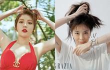 Lần đầu tiên lên báo sau khi rời Cube, Hyuna được khen hết lời vì không makeup mấy mà vẫn xinh