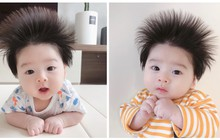 Cậu bé Hàn Quốc với quả đầu chôm chôm đáng yêu đến mức ai cũng muốn đem về nuôi