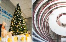 Xịn như Kinh tế Quốc dân: Dựng không gian checkin Noel sang như khách sạn bên trong toà nhà thế kỷ 96.000 m2 với 17 thang máy!