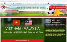 Xuất hiện trang web bán vé bóng đá giả mạo LĐBĐ Việt Nam