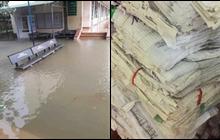 Thiệt hại mưa bão nặng nề tại miền Trung: Hàng loạt trường học chìm trong biển nước, hồ sơ bài thi hư hỏng không khôi phục được