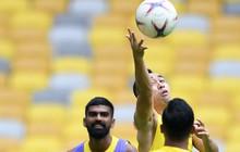 Đội tuyển Malaysia chơi bóng ném trong buổi tập cuối cùng trước khi đối đầu tuyển Việt Nam