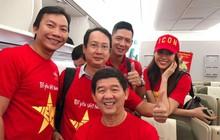 Á hậu Lệ Hằng, Bình Minh mặc áo cờ đỏ sao vàng, cùng lên đường đến Malaysia cổ vũ đội tuyển Việt Nam