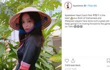 """Fangirl """"xịn"""" từ showbiz Hàn: Hyomin (T-ara) đăng ảnh cổ vũ Việt Nam và Park Hang Seo sau đêm chung kết AFF"""